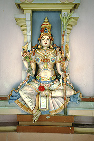 Statue in Hindu-Tempel in Georgetown, Penang